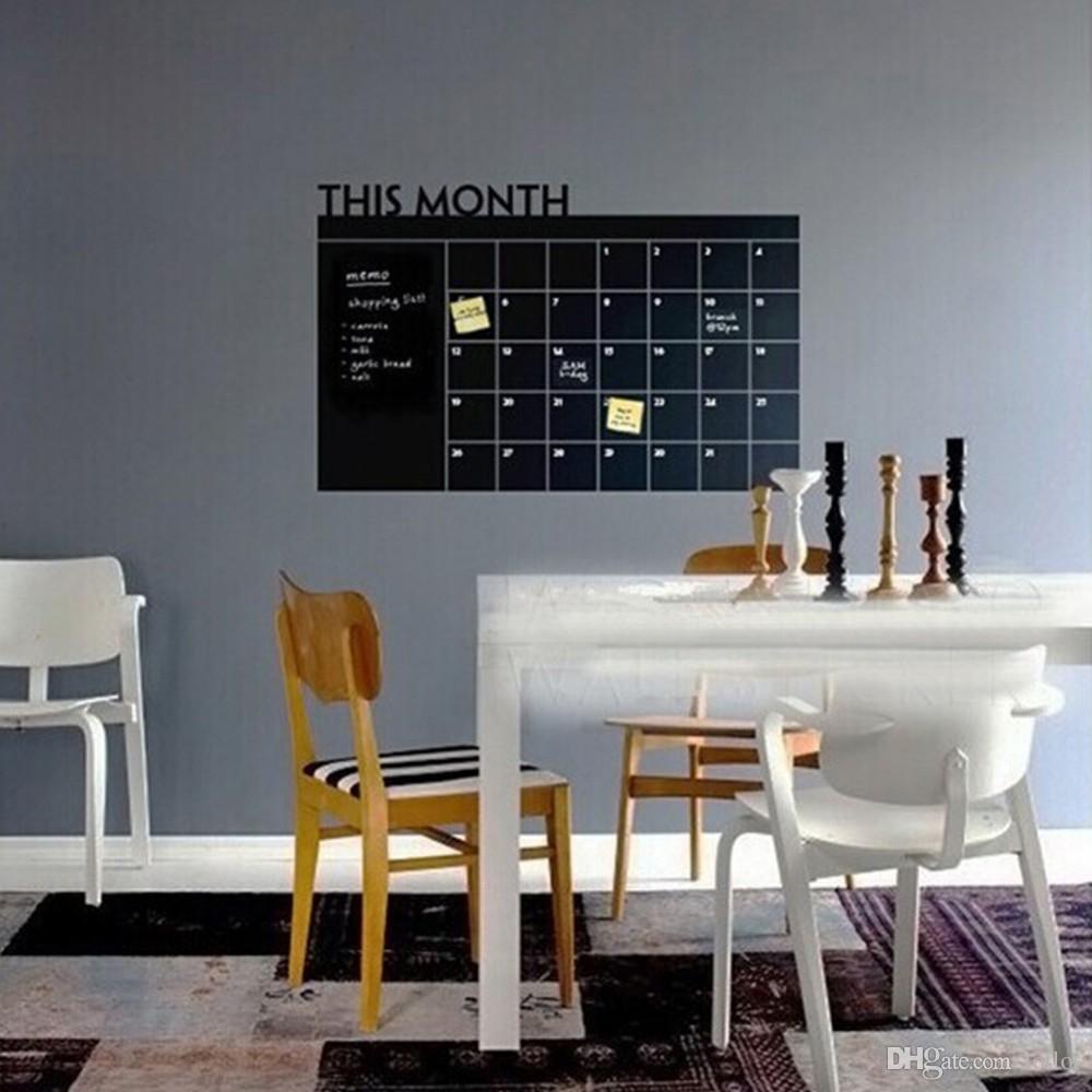 Parete Dipinta A Lavagna acquista adesivo da parete calendario mensile piano lavagna adesivi memo  lavagna in vinile sala studio adesivi da parete camera dei bambini poster  fai