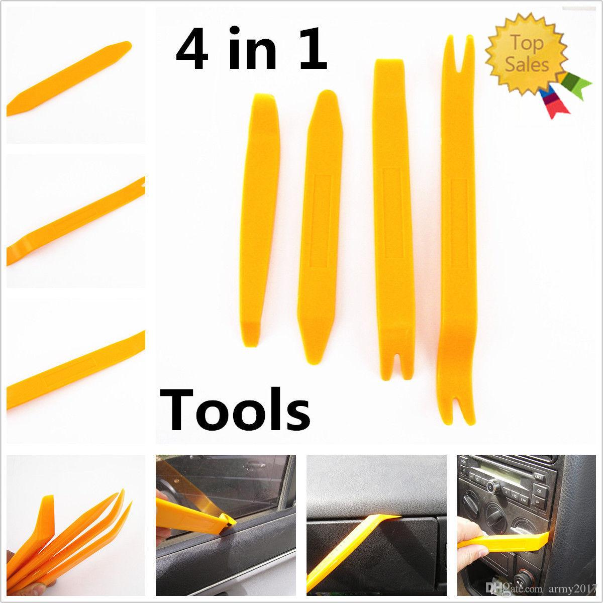 4 in set Removal Pry Open Tools Kit For Car Door Trim Panel Clip Lights//Radio