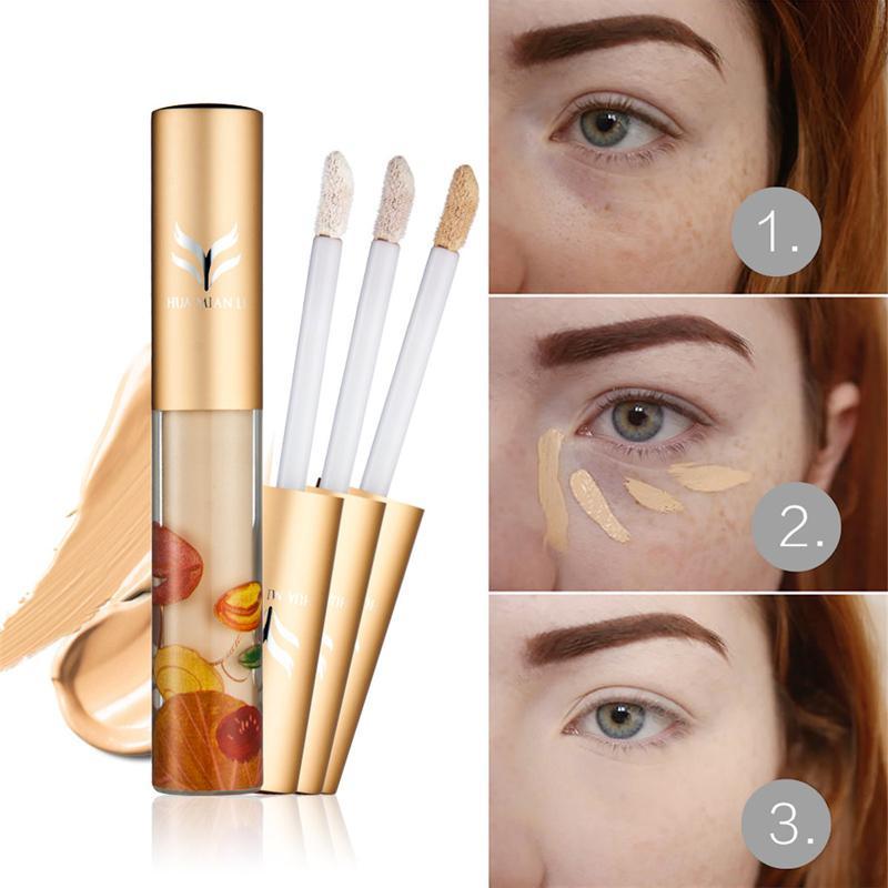 تغطية HUAMIANLI ظلال العيون التمهيدي السائل المخفي الكامل قاعدة مفتح للبشرة الوجه المخفي كريم محيط الوجه Foudantion كريم