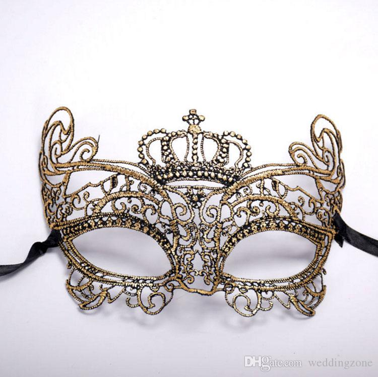 New Style Sexy Lace Princess Mask Half Face Lace Lovely Party Venetian Masquerade Decorations For Dance Party Ball Prom