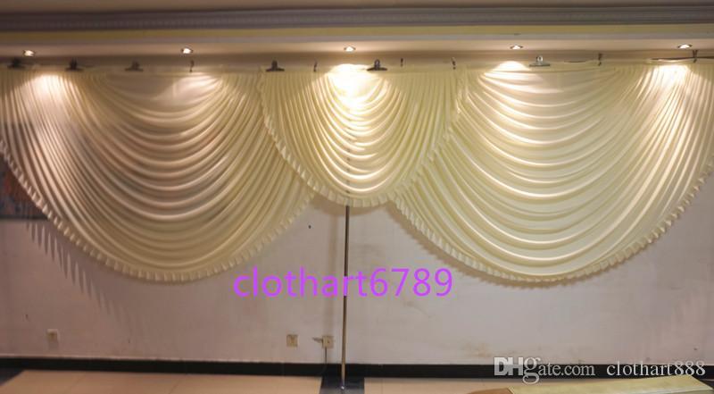 6M de ancho para fiesta de cortina de telón de fondo draps cenefa telón de fondo de la boda cortina de escenario (10 pies * 20 pies) estilista de telón de fondo funeral