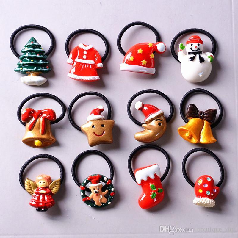 Горячие продажи! Симпатичные девушки Рождественский дизайн ленты Hairbands Мода Маленький снеговик собака локона Перчатки Носки Bell Stars Angela Headwear H78