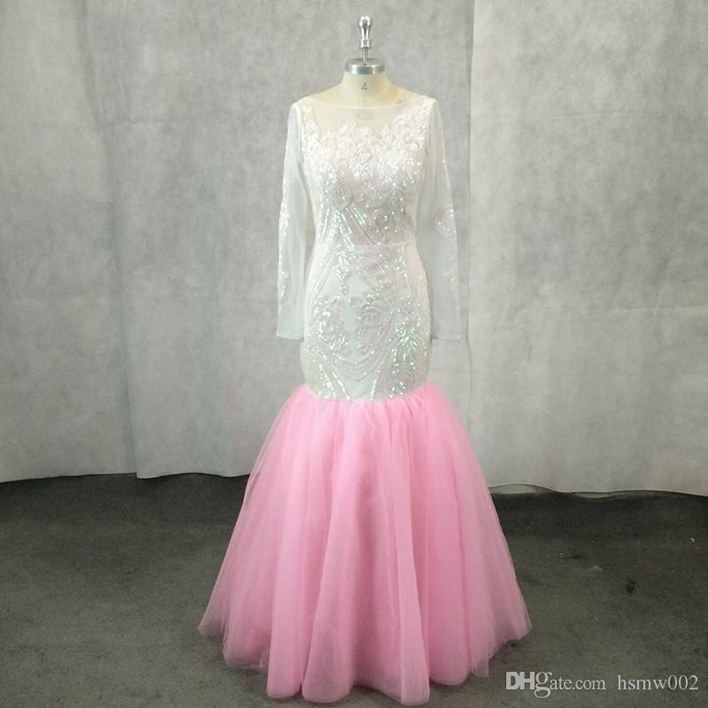 Sexy Backless Mermaid Prom Dresses Scoop Neckline Sequined Prom Gowns Floor Length Evening Party Dress Wear For Women Custom Made