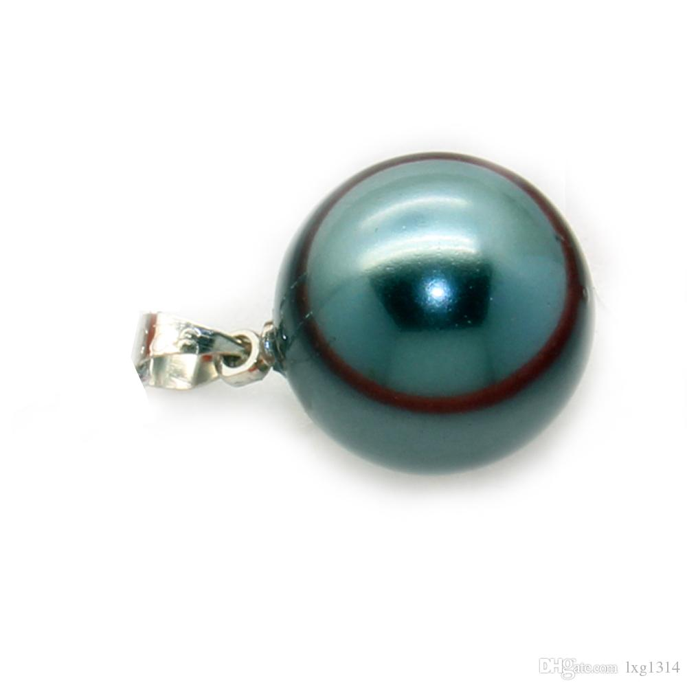 Wholesale Fashion Charm Oyster Shell Pearl Pendant 16mm Shell Pearl Pendant Accessories (No chain, the chain is sold separately)