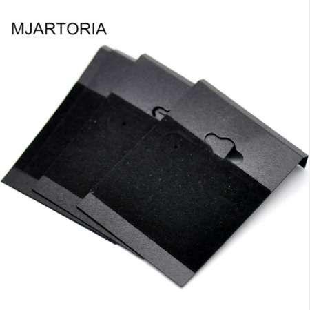 MJARTORIA Hot 50 шт. черный пластиковый ухо крючки серьги дисплей карты аксессуары для крюк серьги дисплей ювелирных изделий 6.2x4.5 см