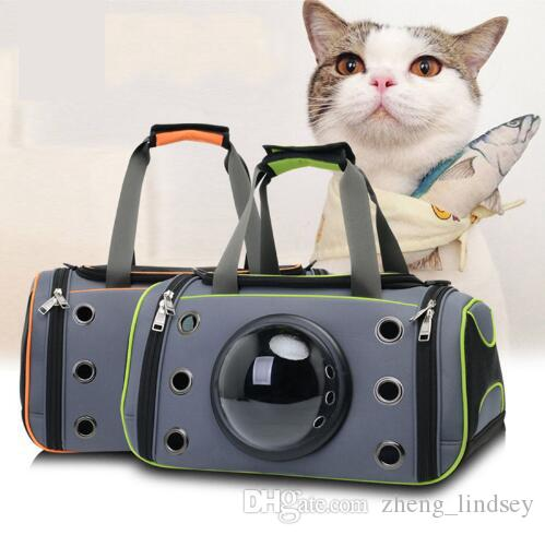 2018 Airline-approved Cat Carrying Bag Space Capsule Pet Kitten Teddy Dog Basket Kit Three Shades Carrier Backpack Pet Supplies