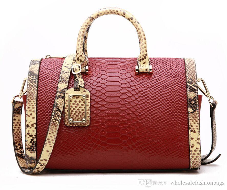 Marka yeni en kaliteli kadınlar gerçek deri omuz Çantası tote çanta stachel çanta QS05