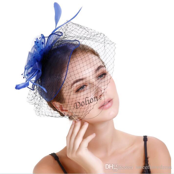 Europäische und amerikanische Boutique T-Bühne Catwalk Mesh Braut Tiara Haar Zubehör Mode Mesh Gaze Hut