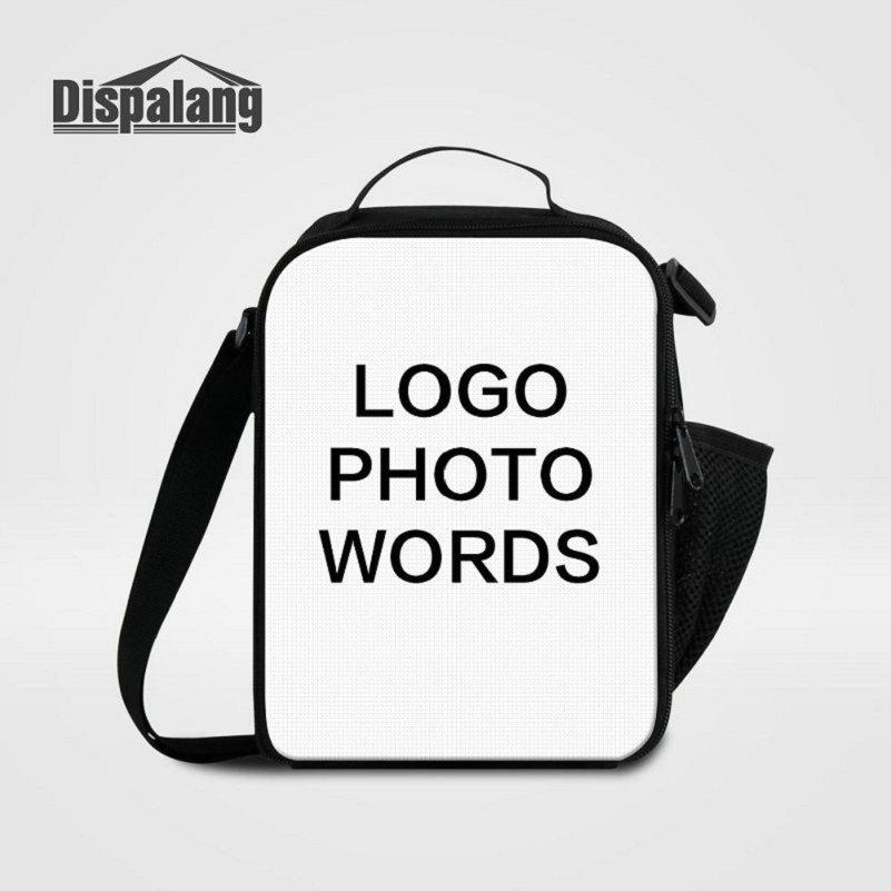 Women's Food Bag Small Lunch Bags Print Your Own Logo Photo Lunchbox For School Children Customize Design Cooler Bags For Students Lancheira
