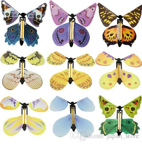 1 Pc Colorful Creative Flying Butterfly New Novel Children Magic Props Toys for Kids Funny Games Educational Toys Birthday Gifts