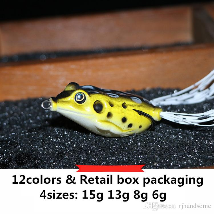 Hot Rubber Ray frog Drag Popper bait 6g 8g 13g 15g Topwater floating Swimming Hollow Body Soft Artificial Lure
