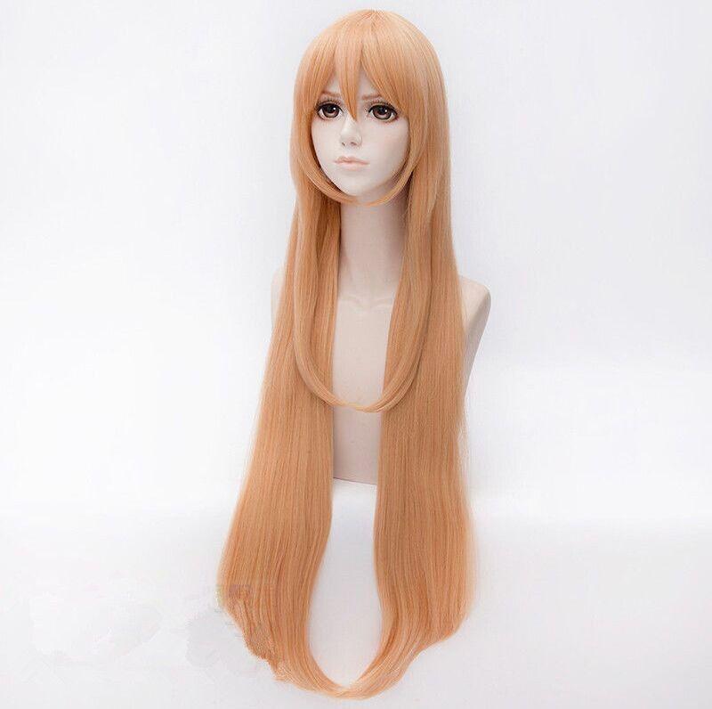 100cm longue ligne droite Himouto! Umaru-chan Umaru Doma Perruque Cosplay Cheveux gratuit