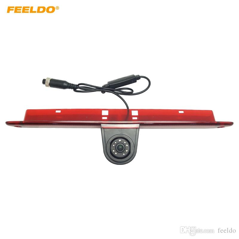 FEELDO Car LED Brake Light IR Rear View Reversing/Parking Camera For Mercedes Sprinter/VW Crafter 2007-2015 #5374