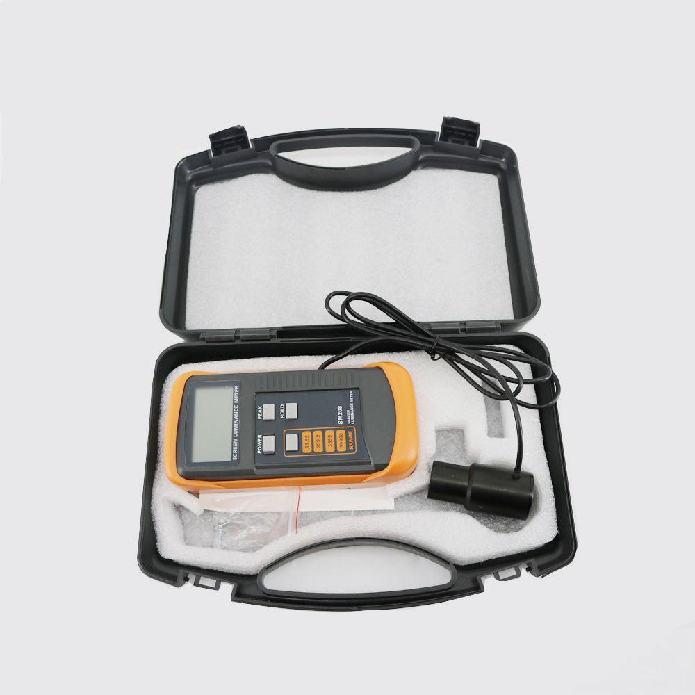 Medidor de brillo de pantalla digital SM208 con alta estabilidad de la fotoestabilidad y resistencia a los golpes