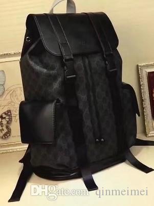 Бесплатная доставка классический роскошный фирменный кожаный мужчины рюкзак черная точка печати обложка флип женщины спортивные рюкзаки любимые сумки строка