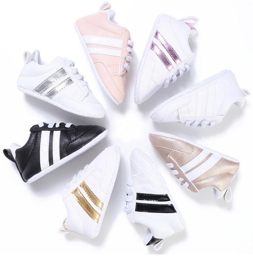 New Fashion Sneakers Newborn Baby Crib Shoes Ragazzi Ragazze Infant Toddler Soft Sole primi camminatori Baby Shoes