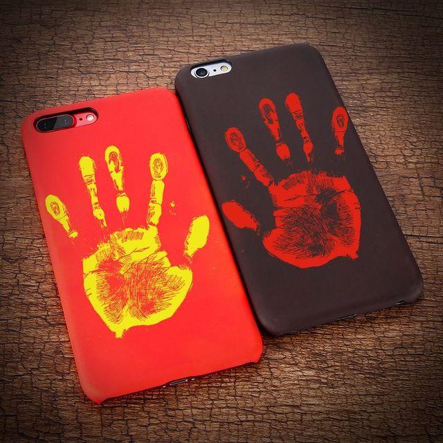 Cambia colore magico di impronte digitali termosensibile Calore Temperatura caso della copertura sensibile del sensore di iPhone 11 Pro Max XS XR X 8 7 6 6S più