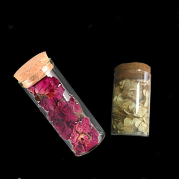 2290mm 22ml Glass Jars Test Tube Bottles With Cork Stopper Transparent Clear Vials