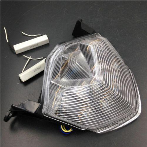 투명 오토바이 LED 테일 라이트 신호등 가와사키 닌자 ZX6R / ZX600 용 2009-2012 ZX10R 2008-2010 Z750 2007-2012 Z1000 2007-2009