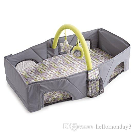 Infant Portable Travel Bed Baby Sleeping Bed Plush Baby Cribs Soft Sleeping Playmat Bed for baby's comfort with a removable, washable sheet
