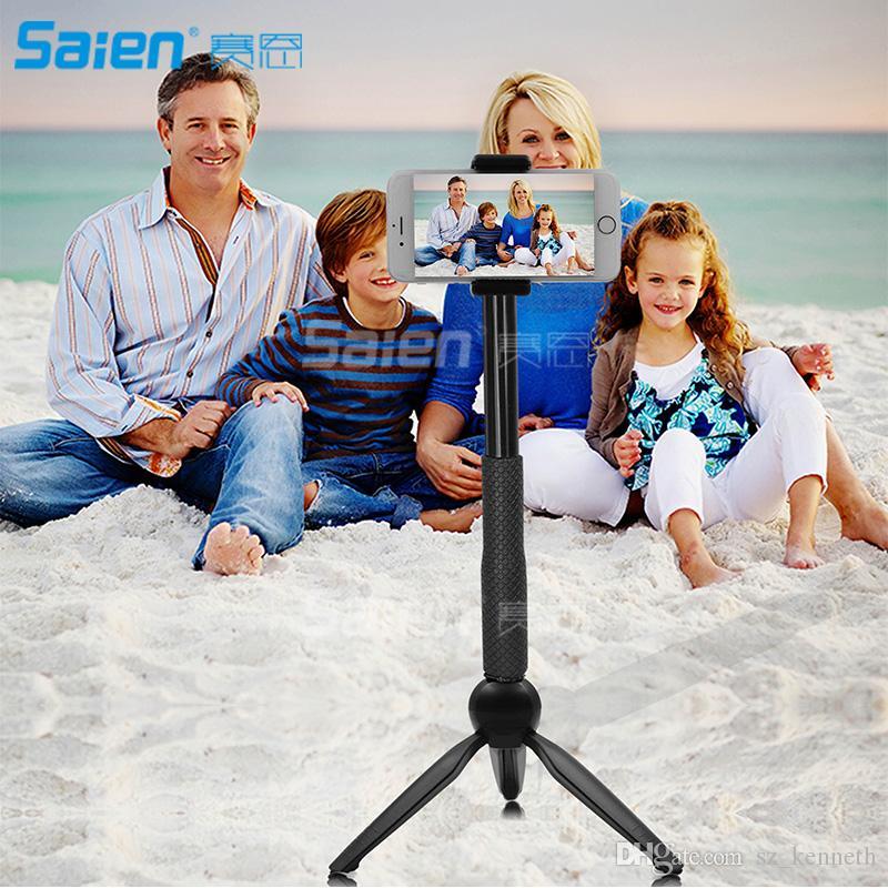 블루투스 Selfie 스틱 삼각대 무선 아이폰 안 드 로이드에 대 한 1 미니 포켓 확장 가능한 알루미늄 합금에 삼성 3 360도 로타