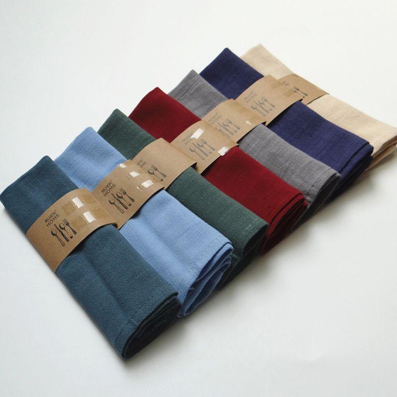 Fábrica al por mayor de cocina casera al horno tela de fondo gourmet, absorbente, servilleta de algodón, toalla de té, 7 colores