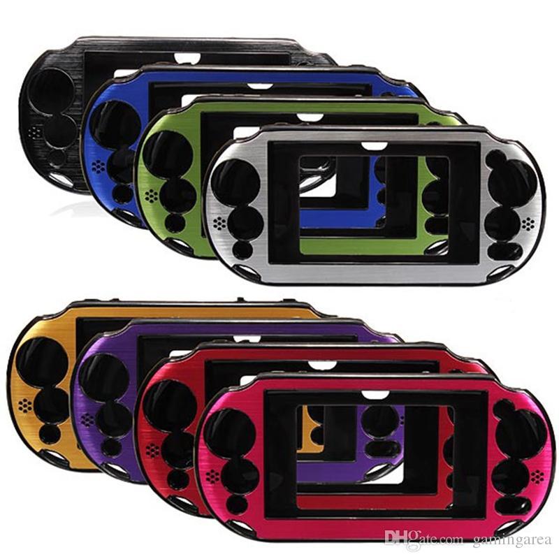 Protector de piel de metal de aluminio Funda protectora dura Cubierta de consola Consola Caja para PS Vita 2000 PSV2000 ENVÍO RÁPIDO de alta calidad