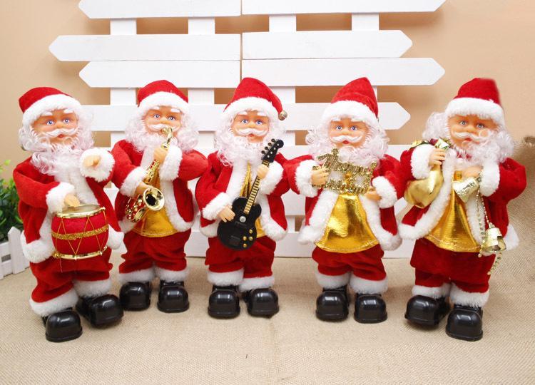 Санта-Клаус с музыкой Рождество саксофон электрический Санта рождественские подарки ежедневно