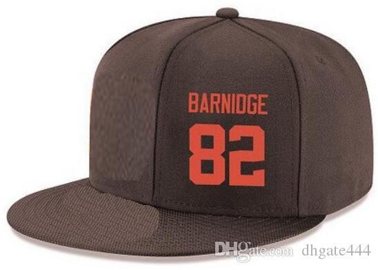 Cappelli Snapback Personalizzato qualsiasi numero Nome giocatore # 82 Barnidge Newsome Cappelli Browns Personalizzati TUTTI I tappi Team Accetta Made Flat Ricamo Logo Nome