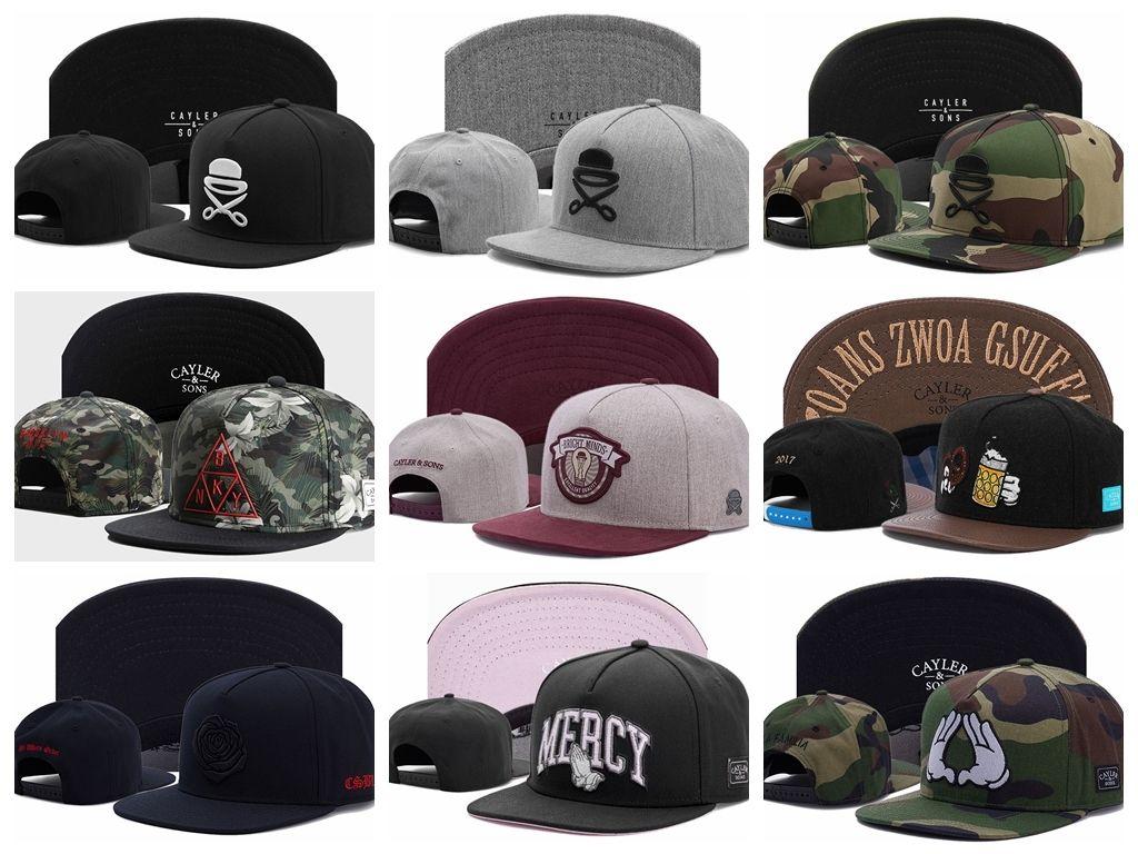 Plus récent arrivel Cayler Sons camo casquettes de baseball os de gorras casquette hip hop chapeau à rebord plat chapeau snapback cap chapeaux pour hommes et femmes