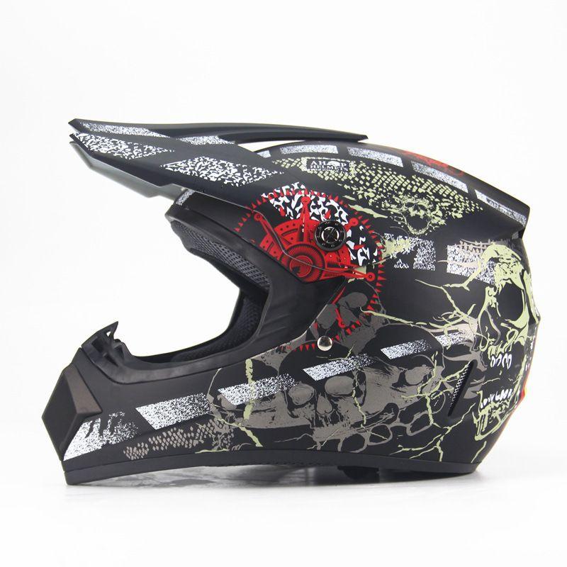 Adulto motocicleta motocross Off Road Helmet crânio do pirata do ATV Dirt Bike Downhill MTB DH capacete de corrida