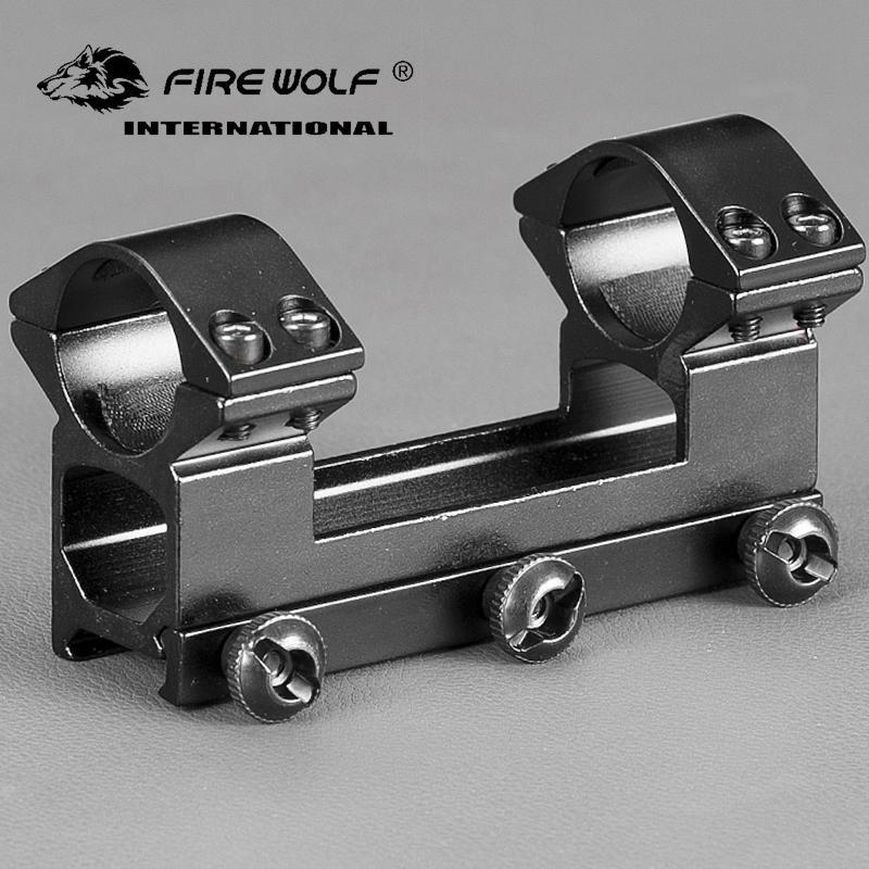 """FIRE WOLF 25.4 mm 1 """"듀얼 링 하이 프로파일 See - through 20 mm 위버 피카 티니 레일 스코프 마운트 헌팅 액세서리"""