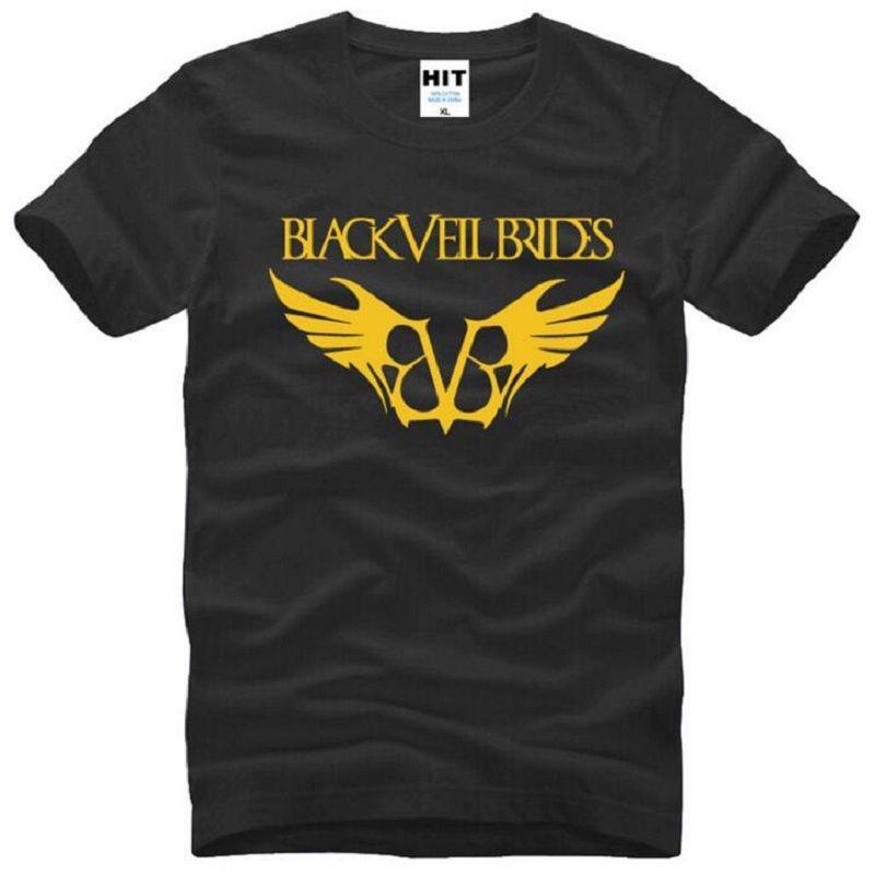 Black Veil Brides Printed T Shirts Men Summer Style Short Sleeve O Neck Cotton Men's T Shirt Fashion Hardcore Rock Male Top Tees