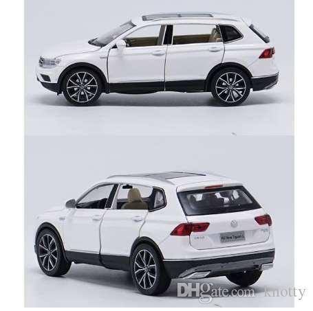 1:32 сплав вытяните назад автомобильные игрушки, высокая имитация Tiguan L, открытая дверь музыка флэш игрушечные транспортные средства, оптовая торговля