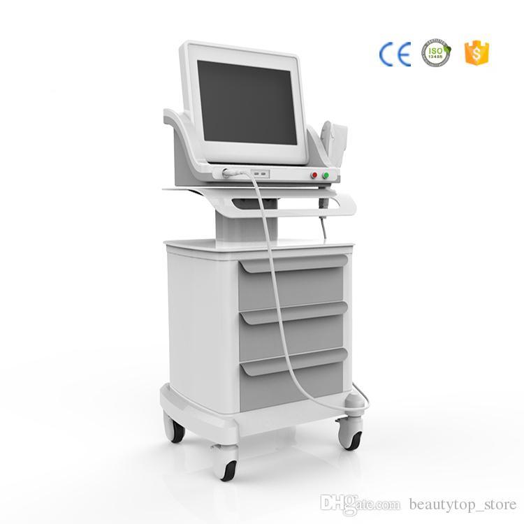 Di nuova generazione fda standard portatile ad alta intensità Hifu macchina ad ultrasuoni focalizzati lifting pelle lifting rughe rimozione sistema di bellezza DHL