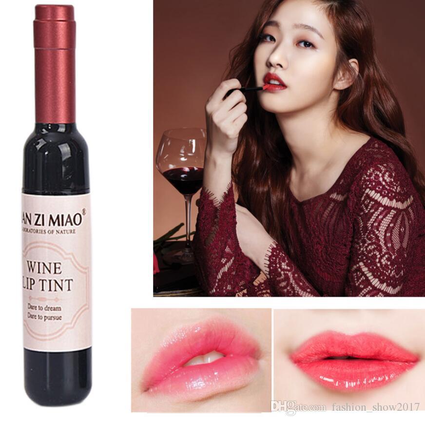 Red Wine Bottle Matte lip tint Lip Gloss Waterproof Long Lasting Lipgloss Moisturize Lip Tint Cosmetic Liquid Lipstick 6 Colors
