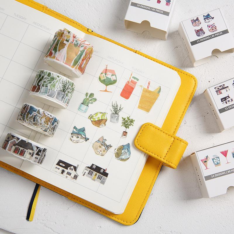 Ninja Cat House License Plate Cocktail Decorative Washi Tape DIY Scrapbooking Masking Craft Tape School Office Supply 2016