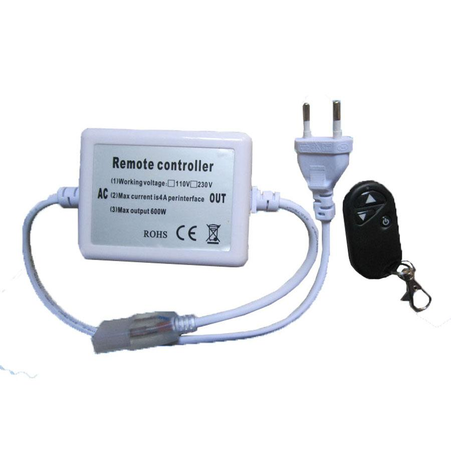 Бесплатная доставка 10pcs 110V 220V высокого напряжения 500w беспроводной пульт дистанционного управления RF LED диммер 3keys 50meter