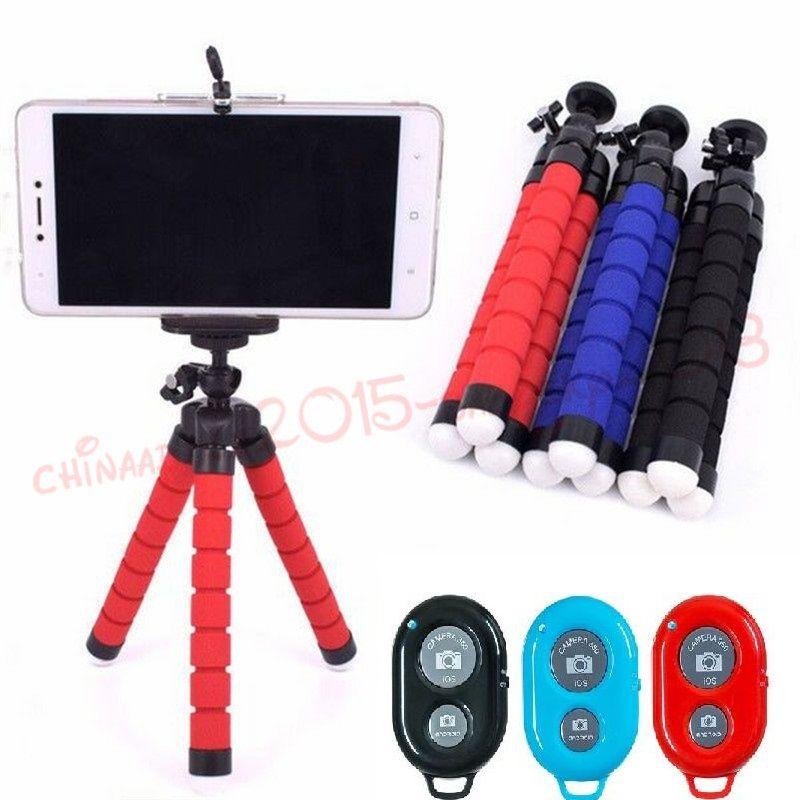 Telefonhalter Stativ-Telefon-Halter-Universalstandplatz Halter für Handy-Auto-Kamera Selfie Einbeinstativ mit Bluetooth-Fernauslöser