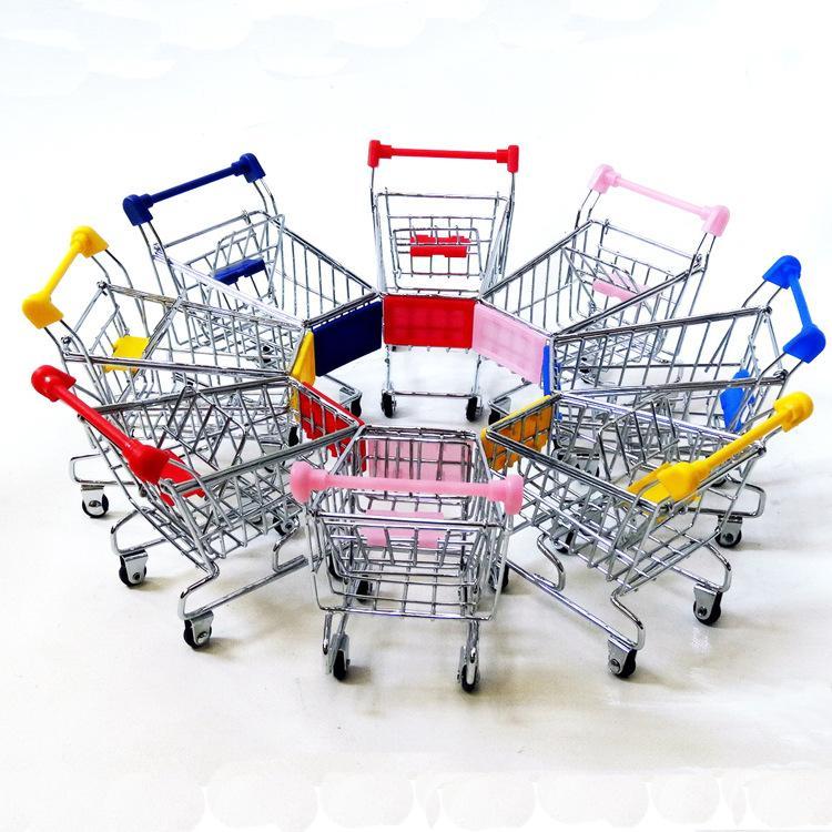 Фабрика поставка моделирование супермаркет покупки мини-корзина из нержавеющей стали хранения металла настольные украшения