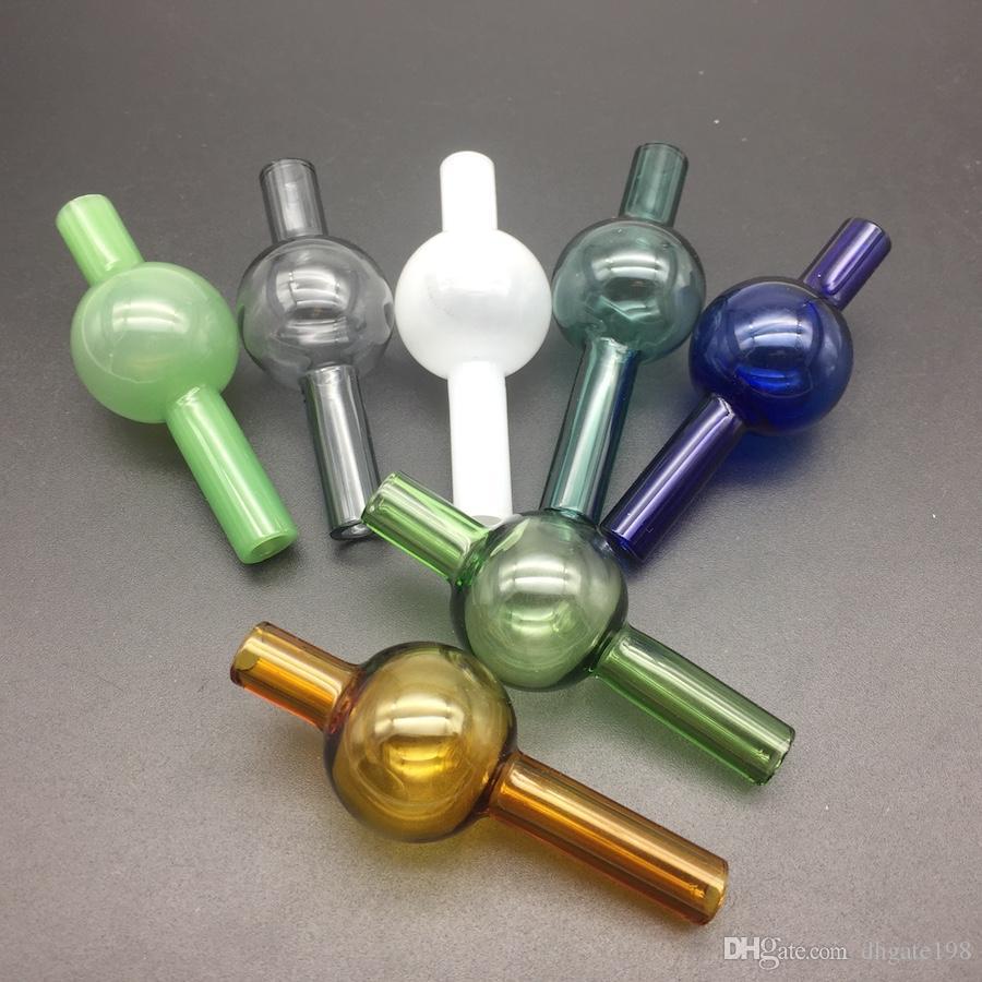 GROSSHANDEL Buntes Universalglas Bubber Ball-Art-Glascarb-Kappe für die meisten flachen Schüsselquarz-Bangs bunt für Wasserrohre an Herrn dabs