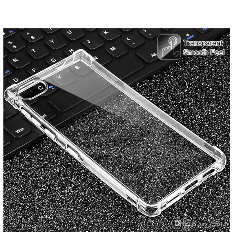 Pour BlackBerry Key2 Key 2 BlackBerry Mouvement Case Keyone Clear Soft Souffle Gel TPU Silicion Couverture de protection de protection transparente
