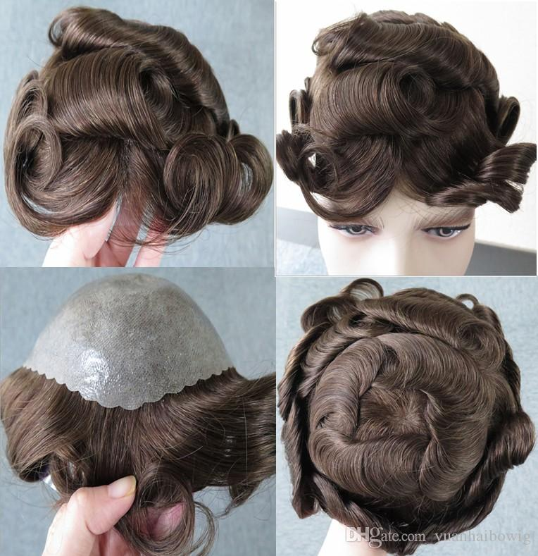 2021 Thin Skin Men Toupee Hot Brown Color 4 32mm Wave European Hair Pieces Trump New Style Color 4 Toupee For Men From Yuanhaibowig 60 31 Dhgate Com