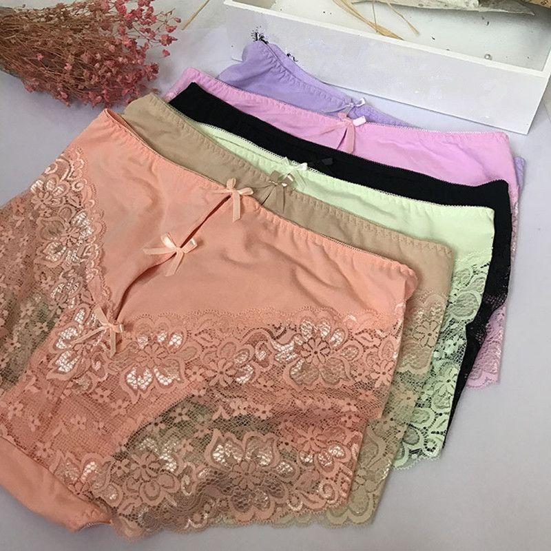 High End Külot Kadın Pamuk Dantel Artı Boyutu 7XL yüksek bel Büyük boy şeffaf Yay lingeries kadın Külot Underwears
