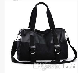 Großhandel Leinwand Männlichen Zauber Leder Farbe Hochwertige In Casual Marke Taschen Herren Trend High Handtasche Tasche Capacity drCxBoe