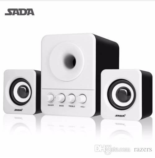 Sada com fio mini usb super bass subwoofer speaker 2.1 3 canal do computador alto-falantes com conector usb 3.5mm para mp3 celular