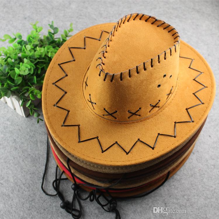 Turismo verano al aire libre de pastizales sombrero de caballero de sombra hombres y las mujeres pueden ser étnicos Cuatro estaciones se pueden hacer para los regalos de navidad