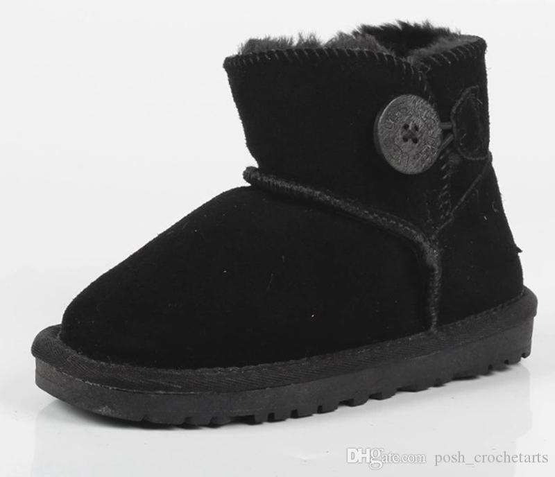 Cute Kids Snow Boots Genuine Leather Fashion Style Snow Boots for Toddlers Winter Footwear for Kids Botas Quality Botas de nieve