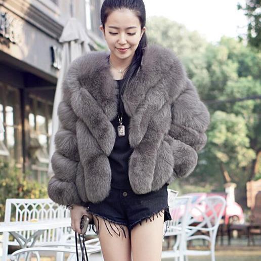Cappotto di pelliccia artificiale 2018 Inverno delle donne di spessore lanuginoso faux pelliccia di volpe giacche vintage oversize elefante pelliccia di visone cappotto per le donne g458