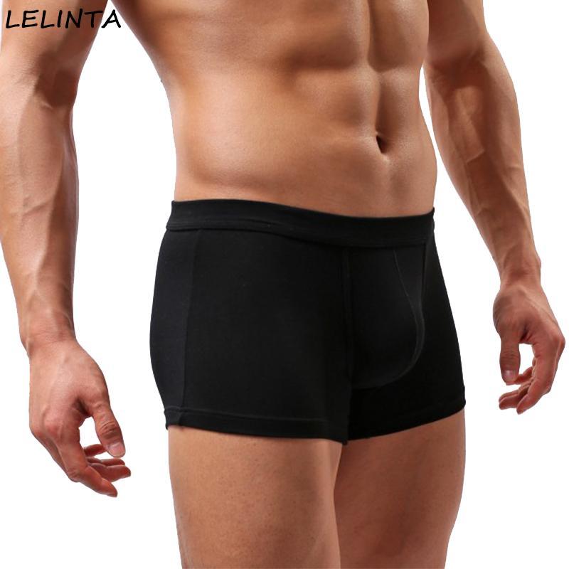 LELINTA Sexy Mens Underwear Cute Boys in Boxers Elastic Fabric Gay Underwear for U Convex Pouch Pants Male Underpants Guys
